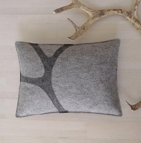 "Cushion cover ""sarvi"" winterly grey - 30x40"
