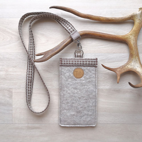 Phone sleeve with neck strap - summer sand