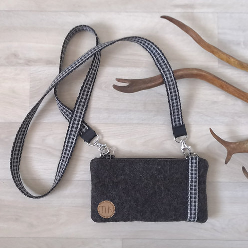 Phone bag - stony grey