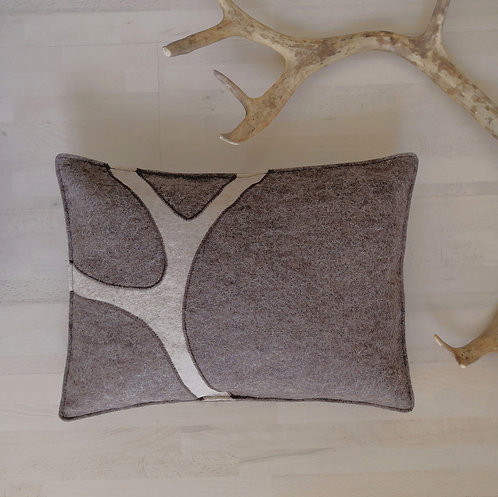 "Cushion cover ""sarvi"" reindeer browngrey - 30x40"