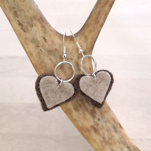 earrings short - reindeer browngrey