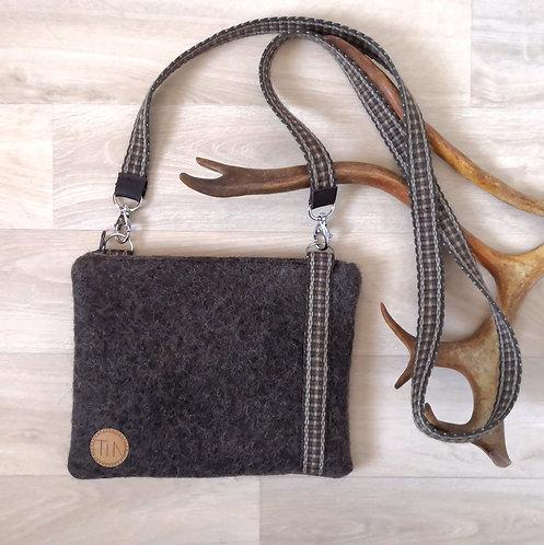 Shoulderbag - small - reindeer brown grey