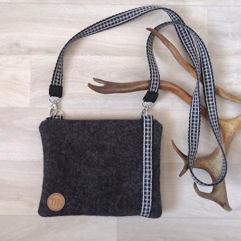 Shoulderbag - small - stony grey