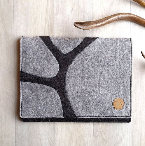 Tablet sleeve - winterly grey