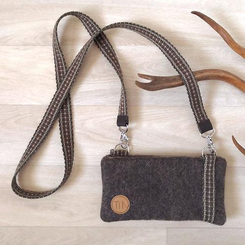 Phone bag - reindeer browngrey
