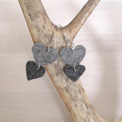 earrings long - winterly grey