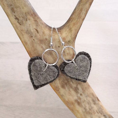 earrings short - stony grey
