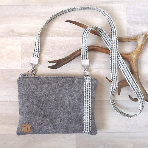 Shoulderbag - small - winter grey