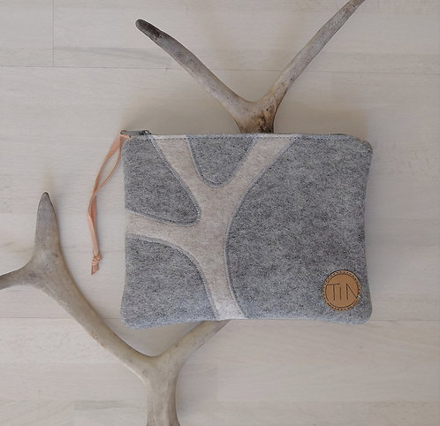 "Pouch ""sarvi"" - winterly grey"