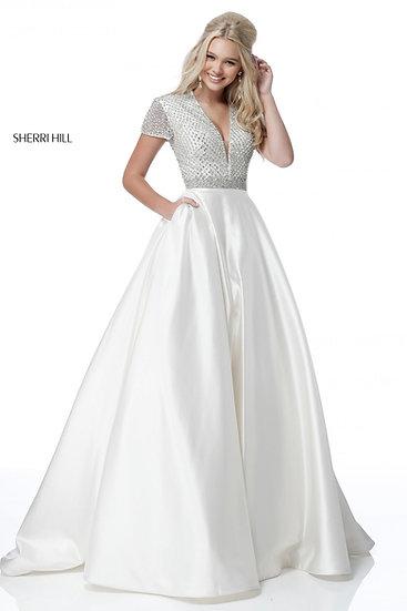 Sherri Hill 51819 Silver