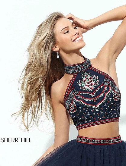Sherri Hill 50075 Navy/Multi