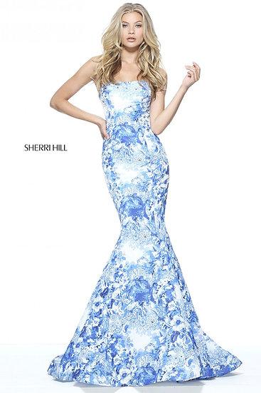 Sherri Hill 51198 Ivory/Blue