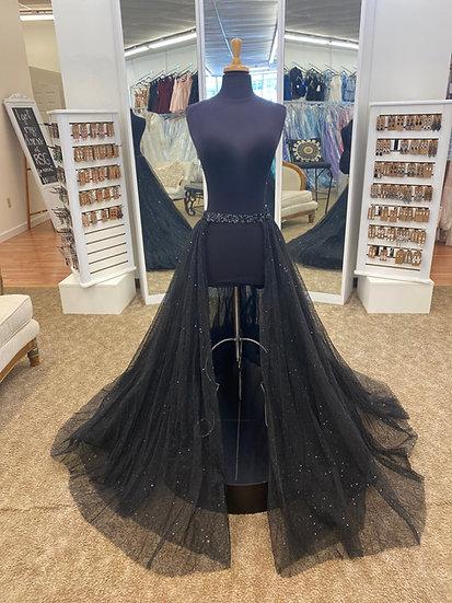 Sherri Hill 54810S Black (Overskirt Only)