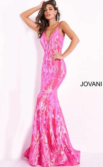Jovani 3263A Hot Pink