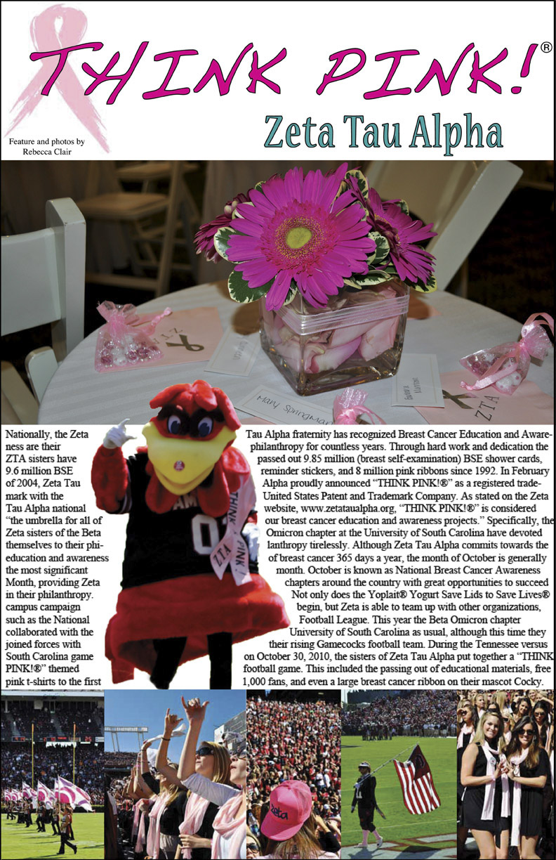 Feature article layout, photography,