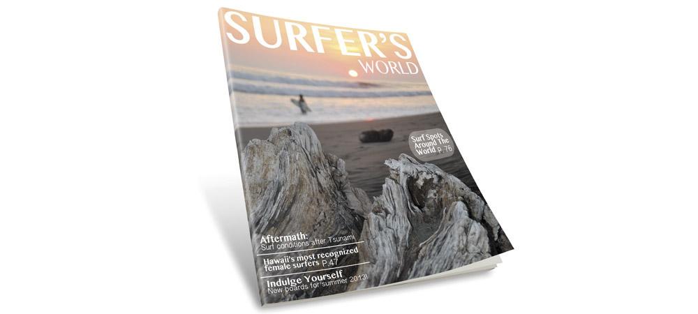 Magazine cover layout & photography.