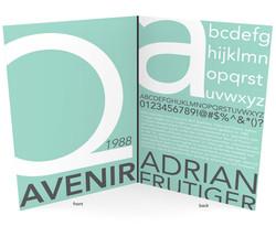 Poster design on the typeface Avenir