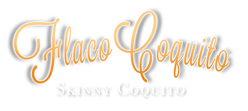 Flaco Coquito logo and Skinny Coquito tagline.