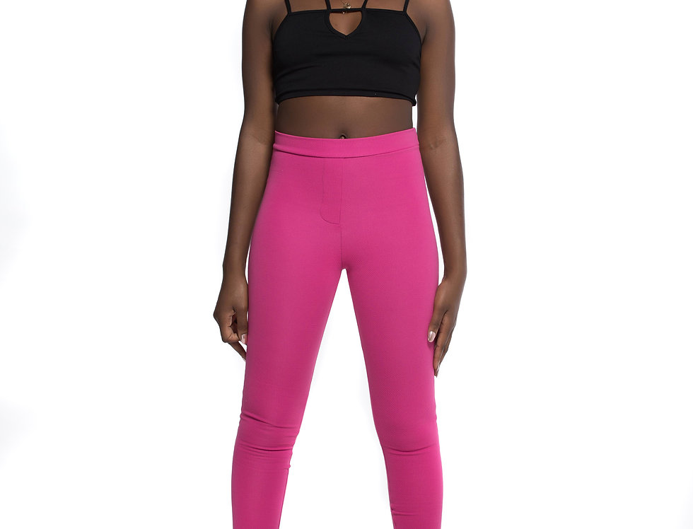 Pink reflection leggings pants