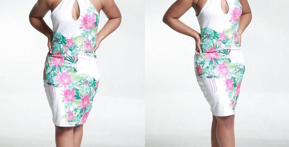 MIAMI FLOWERS DRESS