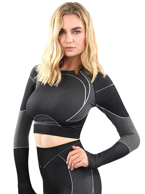 Formidable Apparel  Seamless Sports Top - Black