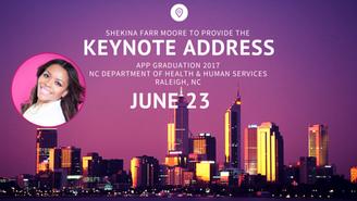 Shekina Farr Moore to Keynote APP Graduation