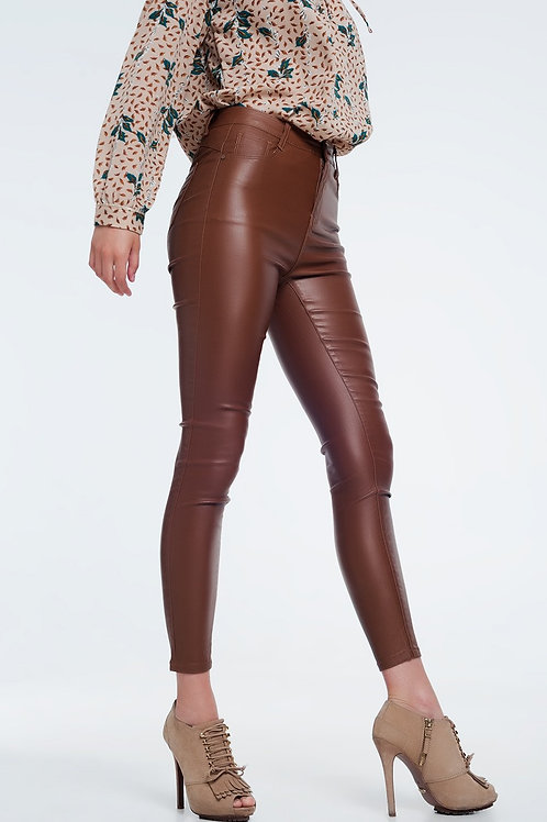 Formidable Apparel High Waist Brown Pants Skinny Fit
