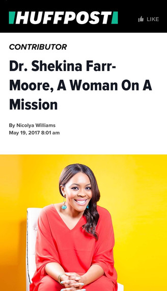Dr. Shekina Farr Moore in an exclusive with The Huffington Post