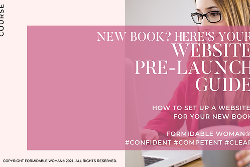 FW How to Set Up Website for Book - Downloadable E-Course