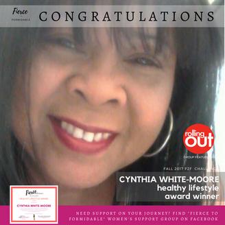 B2F Girls Worldwide Names Cynthia White-Moore Its Healthy Lifestyle Award Winner