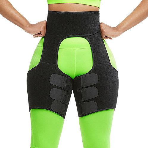 Neoprene Fat Burning Waist Trainer Sweat Waist Belt Workout Thigh Shaper