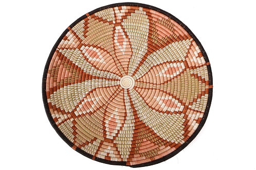 "21"" Large Peach Tilda Plate Woven Wall Art Plate"