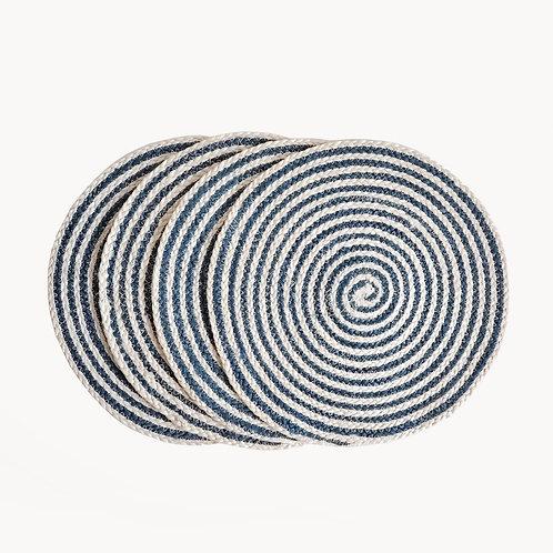 Kata Spiral Placemat - Blue (Set of 4)