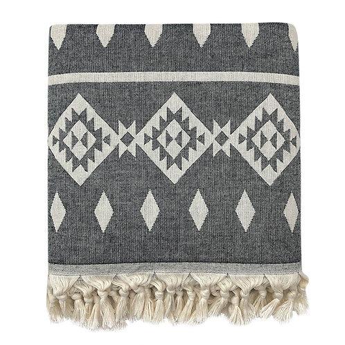 Tribal Turkish Throw Blanket