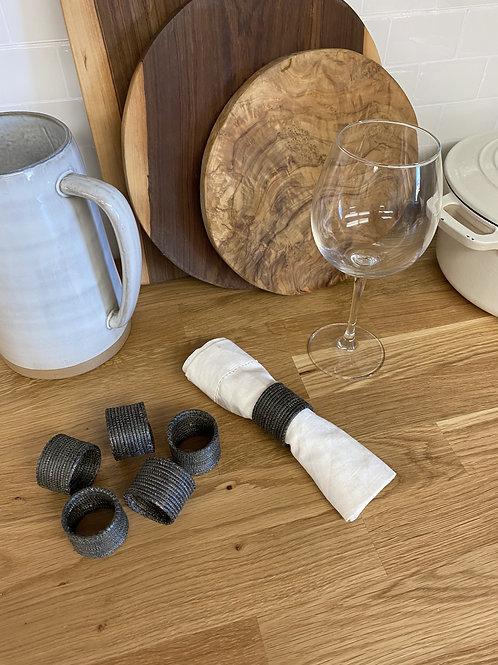 Set of 6 Cocoa Napkin Rings - Sample Sale