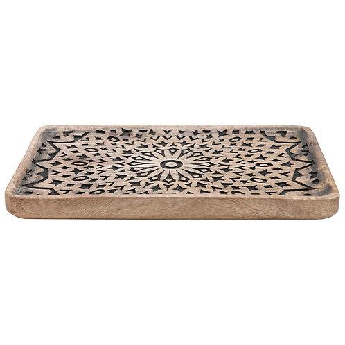 Hand-Carved Mango Wood Tray