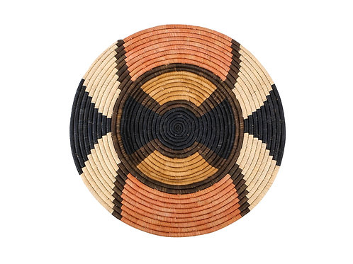 """27"""" Extra Large Tabia Peach Woven Wall Art Plate"""