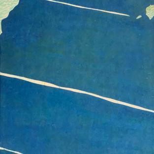 Bluetree, 130 x 80cm, Koreanisches Pigment auf Maulbeerbaumpapier, 2020