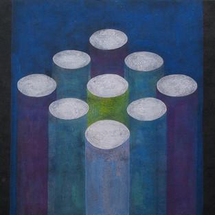Holes, 38 x 53 cm, Koreanisches Pigment auf Maulbeerbaumpapier, 2009