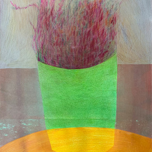 Flowerpot, 60 x 42 cm, mixed media on the Paper, 2019