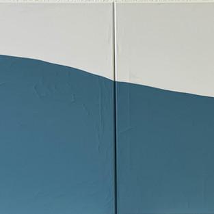 If i  meet a baleen whale  , 60 x 200 cm, Gouache on the Canvas, 2020