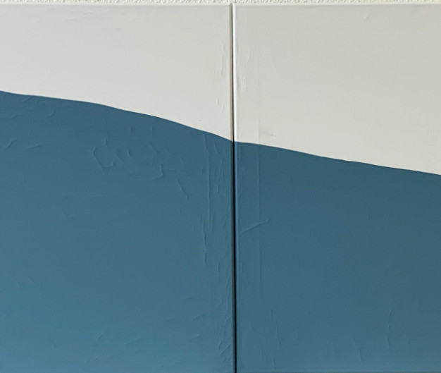 If i  meet a baleen whale  , 200 x 60 cm, Gouache on the Canvas, 2020