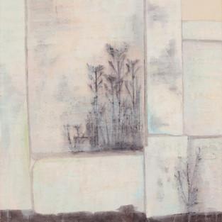 The Wall, 67 x 60.5 cm, Koreanisches Pigment auf Maulbeerbaumpapier,  2011