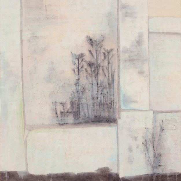 The Wall, 60.5 x 67 cm, Oriental Pigment on the Oriental Paper, 2011