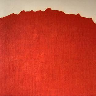 Redtrees-The Sun, 145 x 140 cm, Koreanisches Pigment auf Maulbeerbaumpapier, 2021