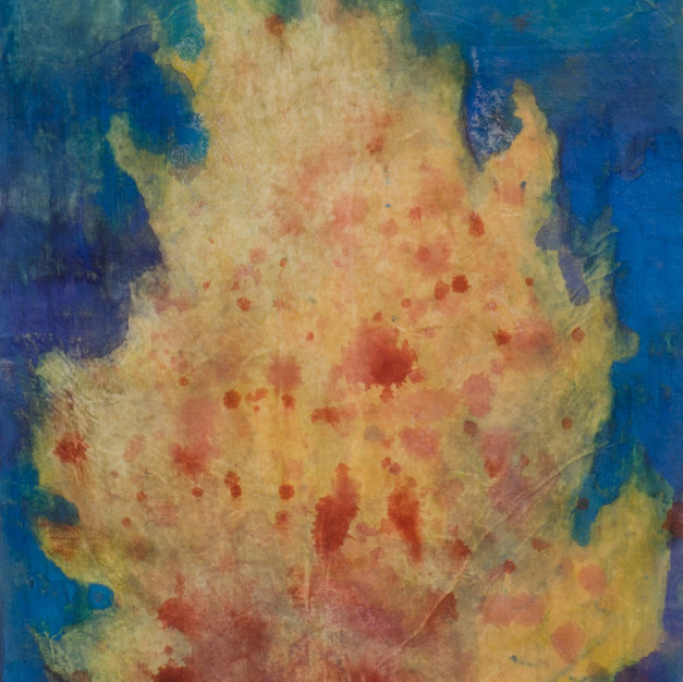 Fire, 20 x 30 cm, Oriental Pigment on the Oriental Paper, 2013