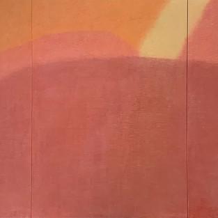 Redforest, 100 x 210cm, Koreanisches Pigment auf Maulbeerbaumpapier, 2020