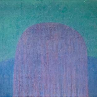Blue valley, 52 x 70 cm, Koreanisches Pigment auf Maulbeerbaumpapier, 2020
