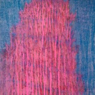 Red tree, 65 x 45 cm, Koreanisches Pigment auf Maulbeerbaumpapier, 2020