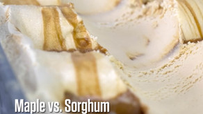 Maple vs. Sorghum Ice Cream for the Holidays!